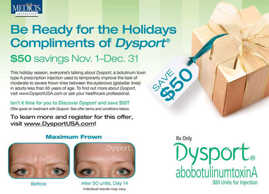 Save $50 on Dysport
