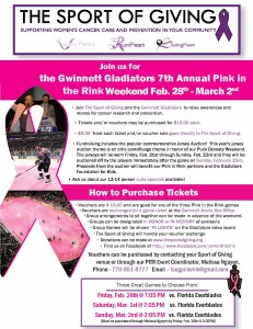 2014 Atlanta Pink in the Rink Information