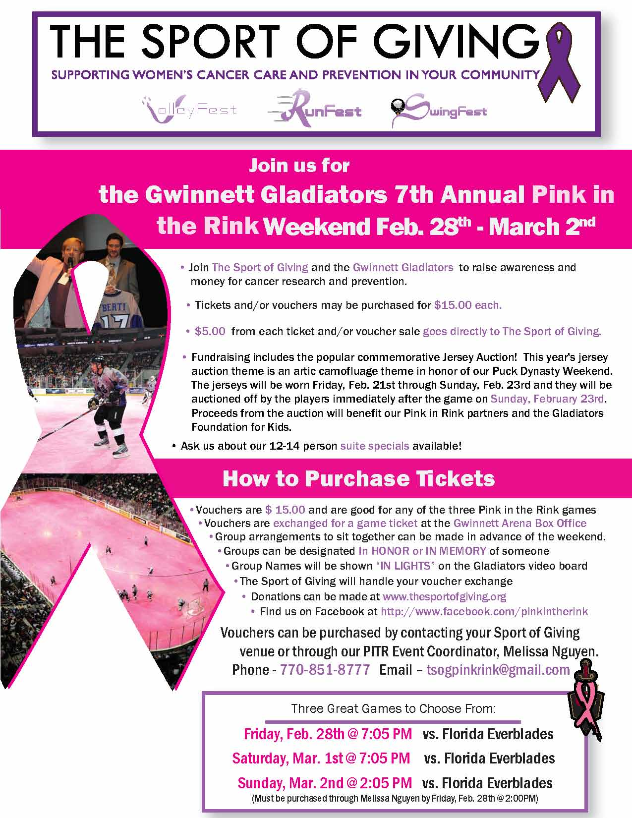 2014 Atlanta Pink in the Rink Information