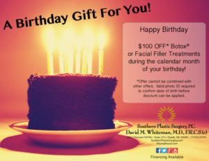 atlanta plastic surgery birthday discount