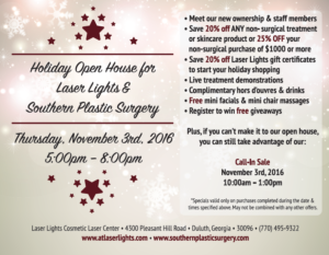 Holiday Open House for Laser Lights & Southern Plastic Surgery