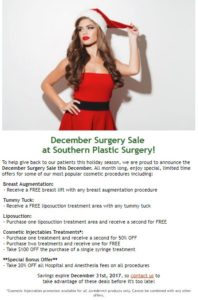 plastic surgery discounts in atlanta ga
