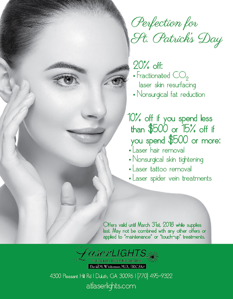 Check Out The March 2018 Specials Available At Laser Lights Cosmetic Center
