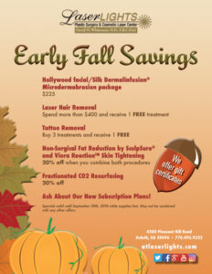 Fall Savings at Southern Plastic Surgery & Laser Lights!